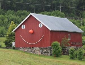 Der Besitzer dieses Hauses hat Humor