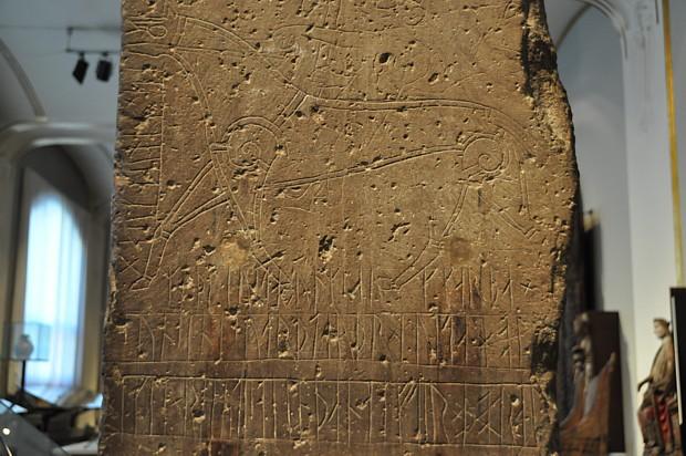 Runenstein im Historischen Museum in Oslo