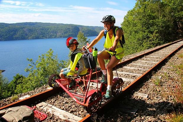 Draisine Flekkefjord, (c) flekkefjordbanen.no