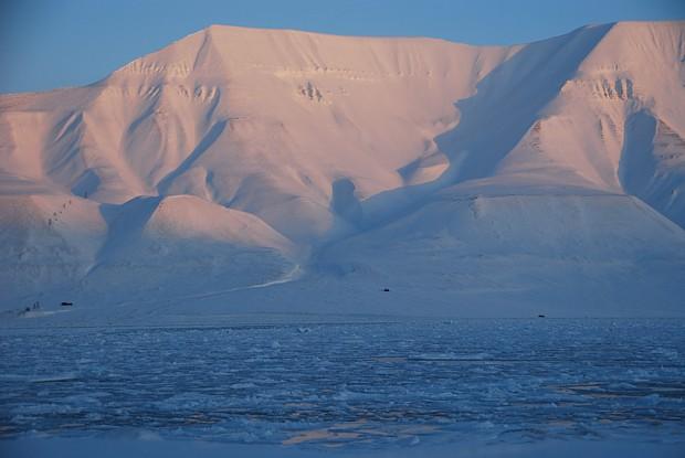 Sonne auf Spitzbergen