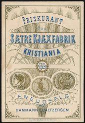 Preisliste aus dem Jahre 1888