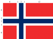 Norwegische Flagge Proportionen - wikipedia Peter John Acklam