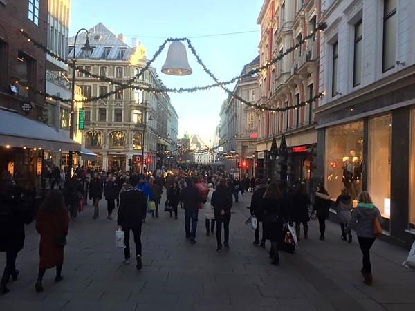 Vorweihnachtszeit Oslo Karl Johans gate