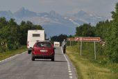 auf Norwegens Straßen unterwegs