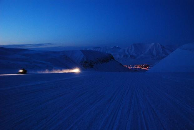 Blaue Stunde Spitzbergen