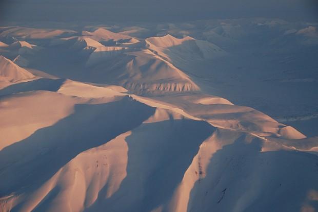 Spitzbergen aus der Luft