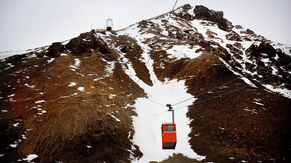 Gondel auf Spitzbergen