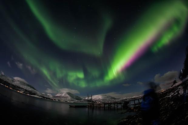 Nordlicht ueber Tromsoe