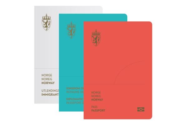Norwegischer Reisepass aussen