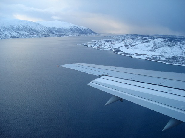 Tromsoe-Anflug