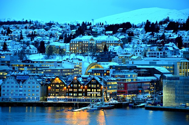 Tromsoe im Winter