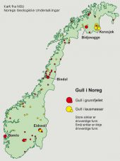 Goldfunde Norwegen