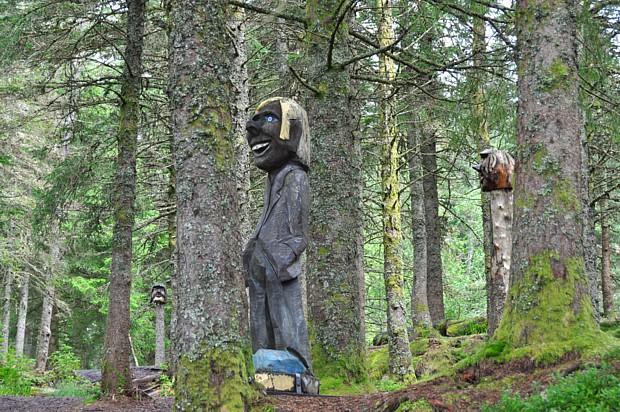 Trolle im Wald von Bergen