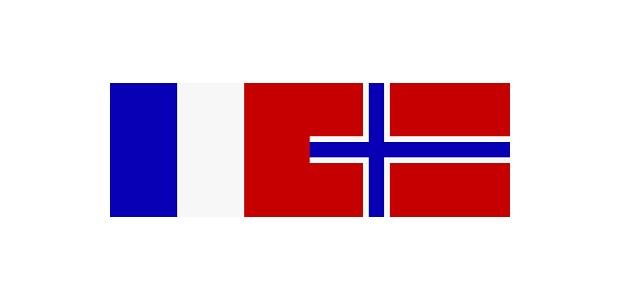 Flaggen Norwegen Frankreich