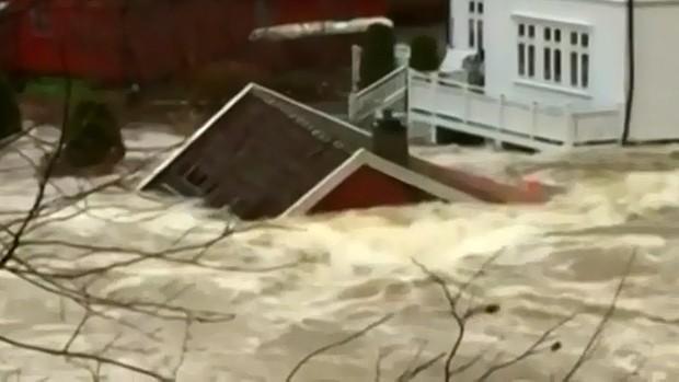 Ueberschwemmungen in Egersund