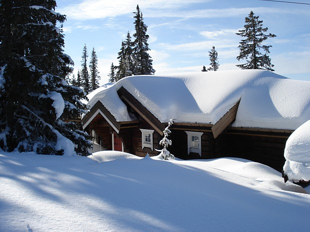 Winter Schnee Hütte Nordseter