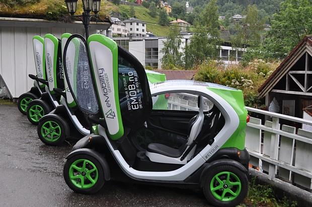 Elektroauto Auto in Geiranger
