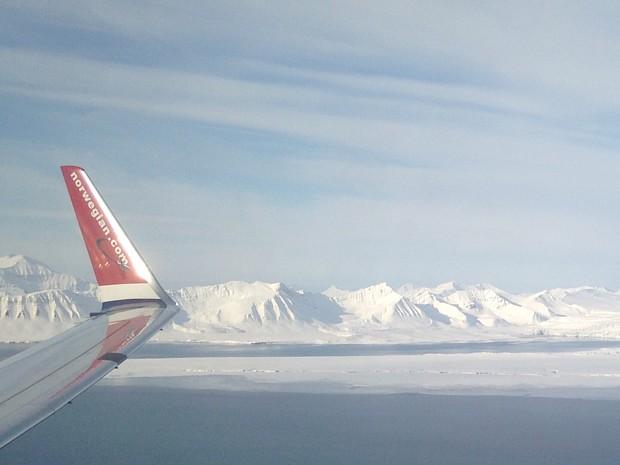 Spitzbergen April Norwegian Fliegen Flugzeug (c) Ellinor Rafaelsen