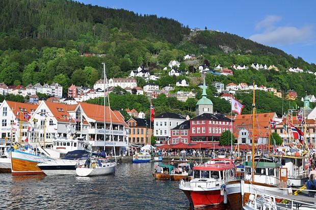 Bergen Hafen Juni 2016