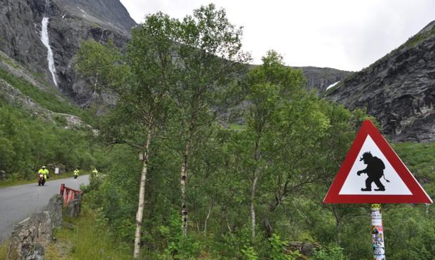 Motorrad Norwegen Troll