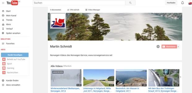 You Tube Norwegen service