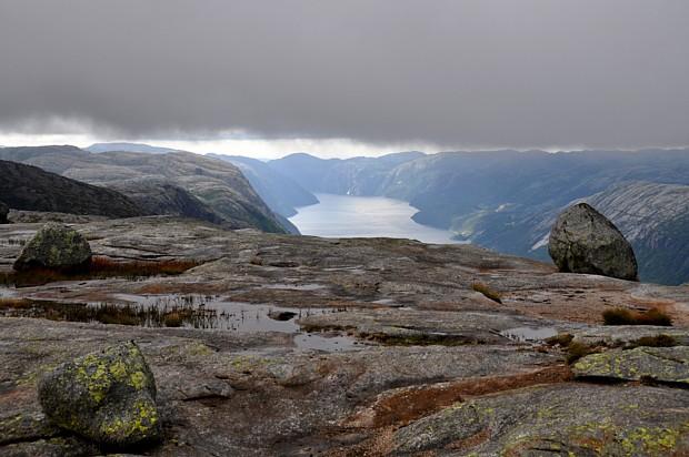 Titel Kjerag Wetter Wolken Stein Lysefjord