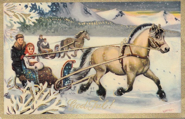 julekort Weihnachtskarte Silvester