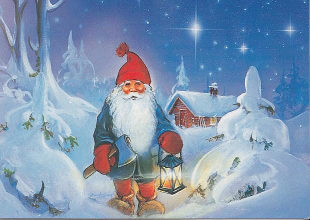 Nisse julekort weihnachten