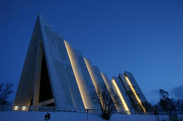 Eismeerkathedrale Ishavskatedralen Tromsø Copyright-kalle