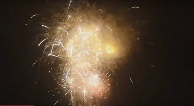Feuerwerk Oslo 4 Neujahr