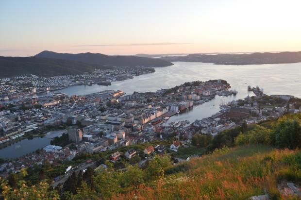 Bergen Floyen 620 Sonnenuntergang