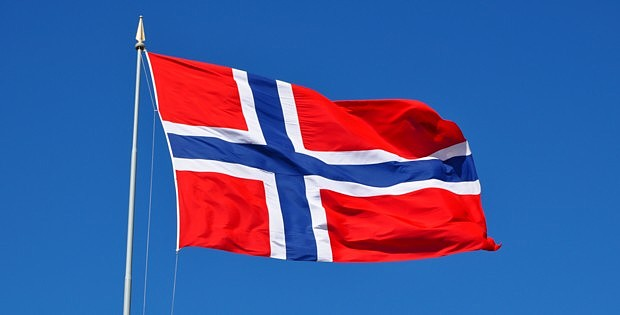 Norwegenflagge Fahne Nationalfeiertag