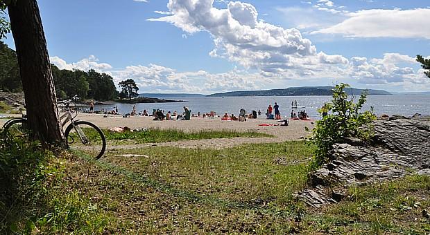 Radfahren Ufer Strand Meer Fahrrad