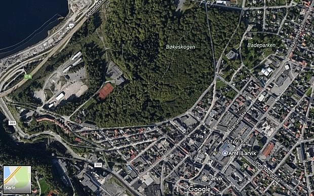 Bøkeskogen Copyright Google Maps