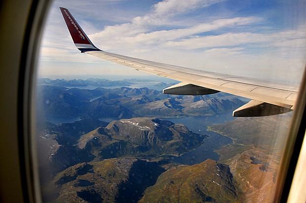 Blick aus dem Flugzeug Fliegen