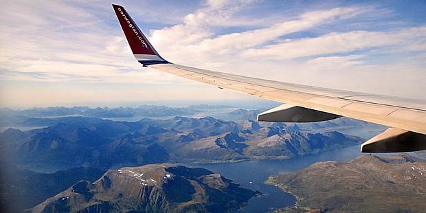 Flugzeug Anreise Flug