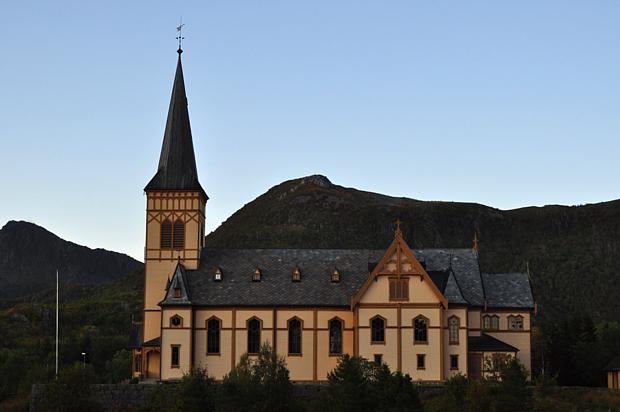 Kirche Bauwerk Lofoten Vaagan
