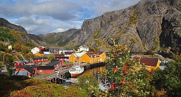Nusfjord Lofoten Herbst
