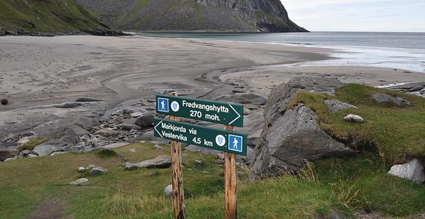 Wandern Norwegen Strand Sport