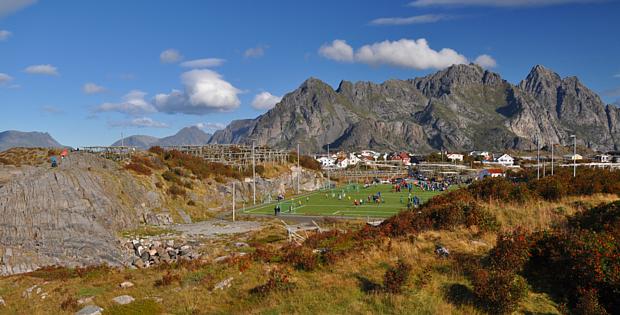 Fußball Sportplatz Training