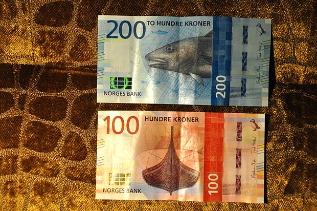 Geld Kronen Fisch Dorsch Bank Wirtschaft Wikinger