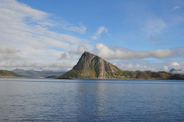 Lofoten Berge Reisen Wasser Himmel