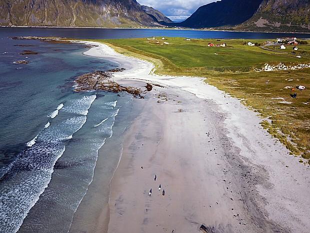 Lofoten Drohnenbild Copyright Reinhard Pantke
