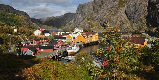 Nusfjord Lofoten Rorbu Holzhaus