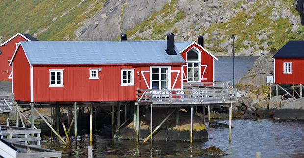 Rorbu Lofoten Hütte rot