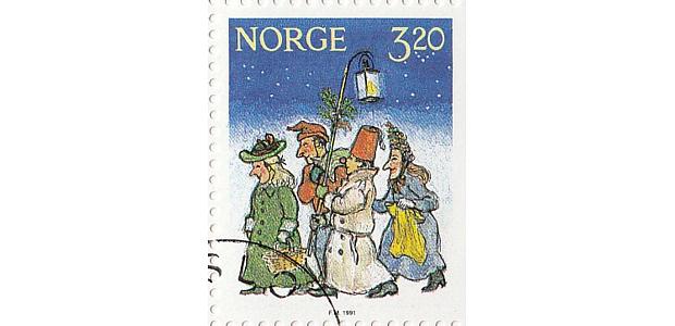 Briefmarke Julebukk 2