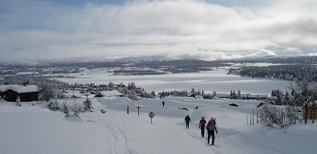 Langlauf Schnee Hytte Huette Winter Ski