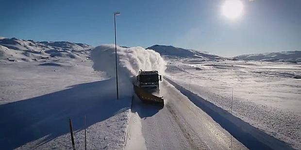 Schneeraeumung Screenshot – nrk