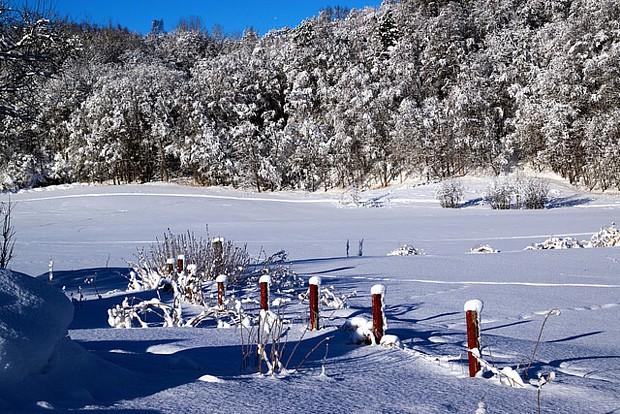 Alta Winter Schnee Zaun 06