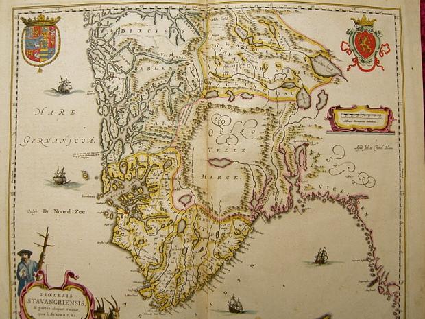 Karte Norwegen Blaeu 1650
